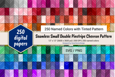 Seamless Sm Double Pinstripe Chevron Paper-250 Colors Tinted