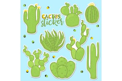 Cactus set sticker