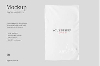 "15""x25"" Towel Velour Mockup, Sublimation Velour Kitchen Towel Mockup"