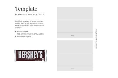 """Hershey's Chocolate Milk Bar 1.55oz , Paper Size 8.5"""" x 11"""""""