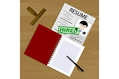 Candidacy hired. Hiring for position