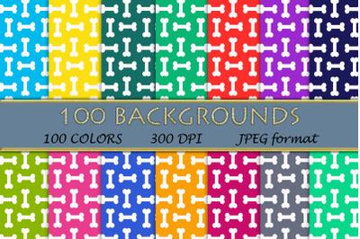 100 Dog bone digital paper