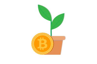 Growth rate bitcoin vector