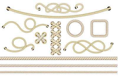 Old Nautical Ropes Set