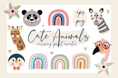 Cute Animals Nursery Print Creator