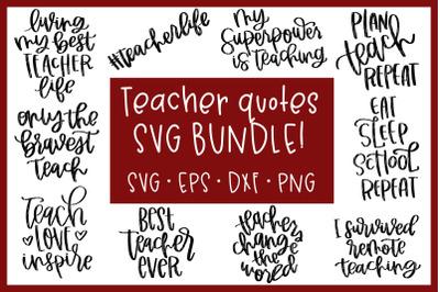 Teacher Quotes SVG Bundle