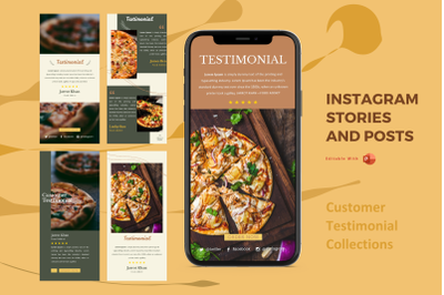 Testimonial collections instagram stories and posts powerpoint templat
