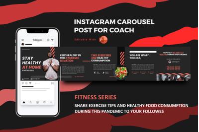 Healthy body coach -  instagram carousel powerpoint template