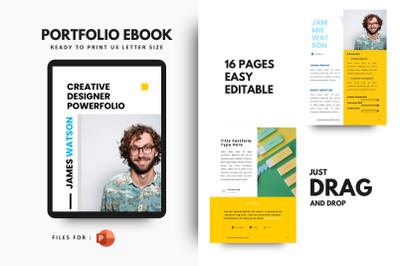 Professional graphic designer portfolio powerpoint template