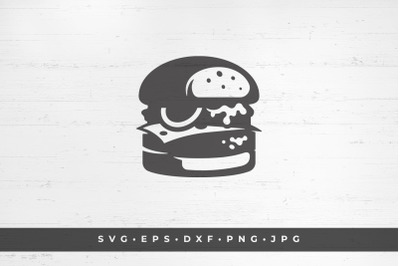 Burger fast food delicious sandwich