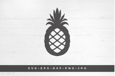 Pineapple fruit silhouette vector illustration
