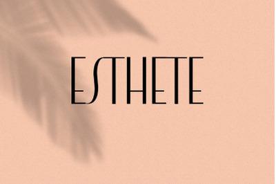 Esthete. Elegant  & Classic Sans Serif Font.