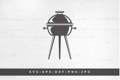 Barbecue grill silhouette vector illustration