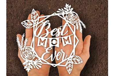 Paper cut Template /Birthday card mom