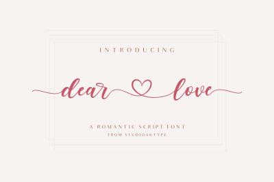 dear love   a romantic script font