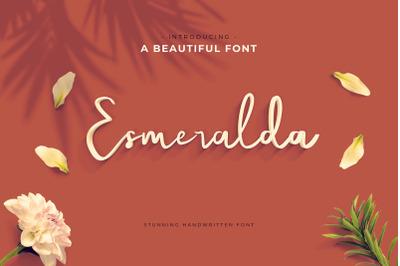 Esmeralda Handwritten Font