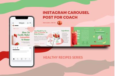 Healthy recipe creator -  instagram carousel powerpoint template
