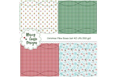 Christmas Pillow Boxes Set no. 2