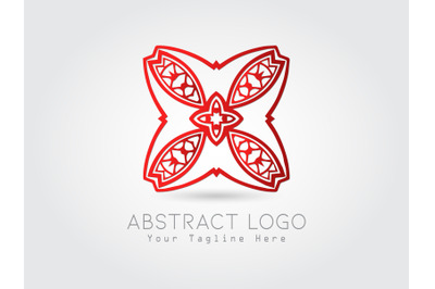 Logo Abstract Gradation Red Color