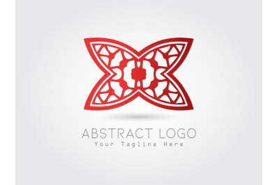 Logo Abstract Gradation Red Color Design