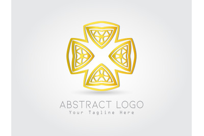 Logo Abstract Gold Color Design