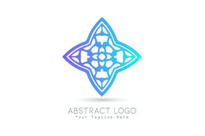 Logo Abstract Gradation Blue Color