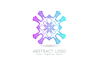 Logo Abstract Gradation Blue Purple Color Design