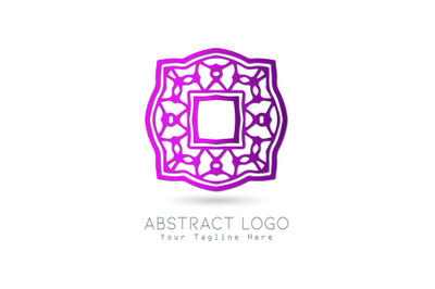 Logo Abstract Gradation Purple Color Design