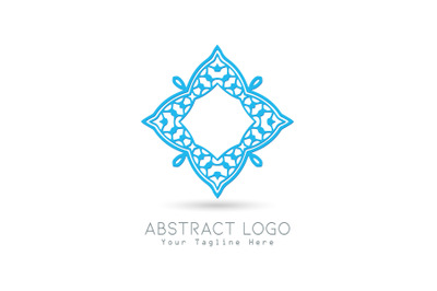 Logo Abstract Blue Color Design
