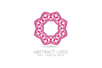 Logo Abstract Pink Color Design