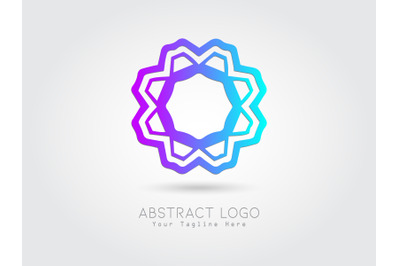 Logo Abstract Gradation Blue Purple Color