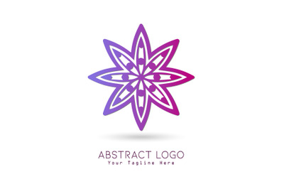Logo Abstract Gradation Purple Pink Color Design