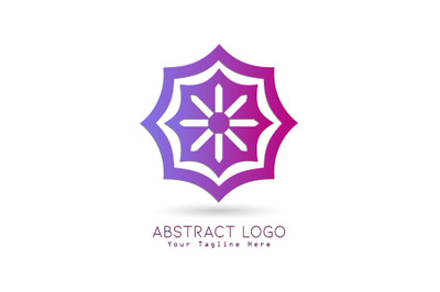 Logo Abstract Gradation Pink Purple Color
