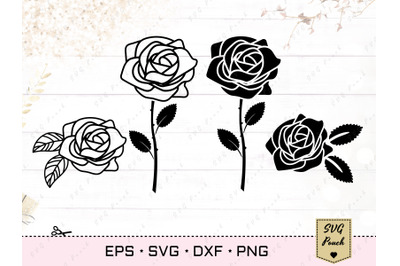 Roses silhouettes SVG