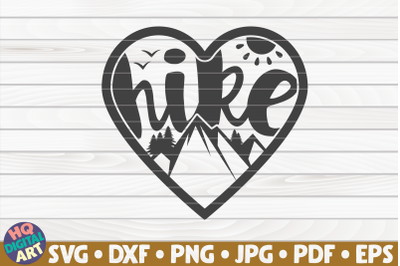 Hike heart SVG | Hiking quote