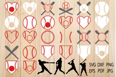 Baseball SVG, Softball, Baseball Monogram Frames