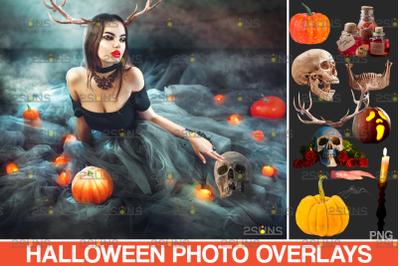 Halloween overlay & Pumpkin clipart