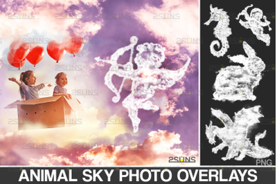 20 Sky overlay: Cloud shape overlay, Transparent png file