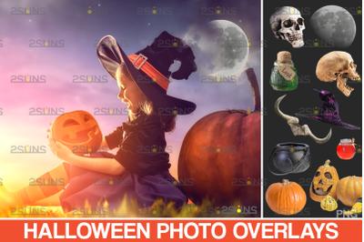 Halloween overlay & Pumpkin clipart, Photoshop overlay