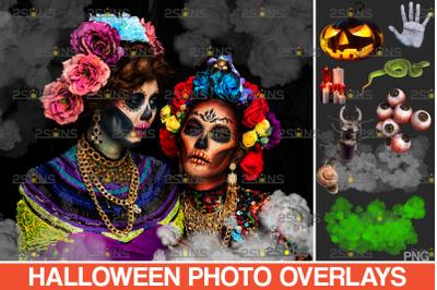 31 Photoshop overlay & Halloween png overlays