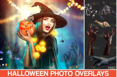 Photoshop overlay & Halloween clipart: zombie hand
