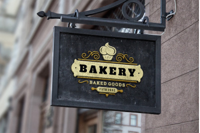 Bakery Shop Logo Design Template