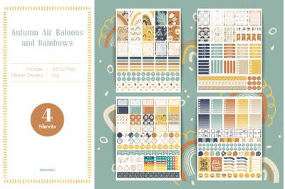 Fall Printable Planner Stickers for Erin Condren