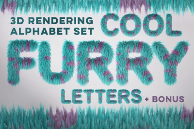 3D Furry Cartoon Letters Pack