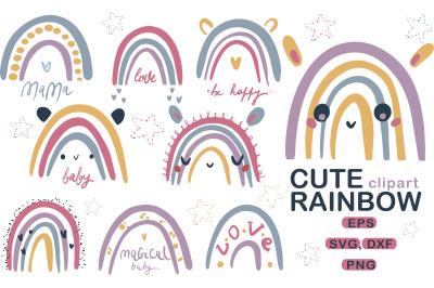 Cute Baby Rainbow SVG