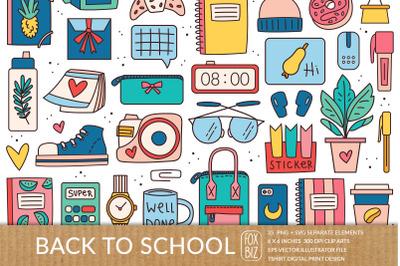 Back to school, office stationery SVG, PNG, EPS, JPEG