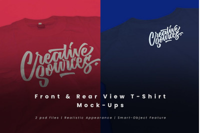 Front & Rear T-Shirt Mock-Ups