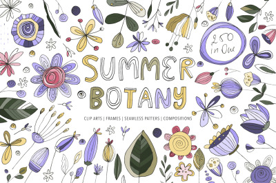 Summer Botany. Floral Graphic Pack.