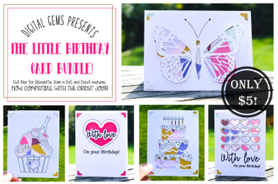 Birthday card bundle! Now compatible with the Cricut Joy!!