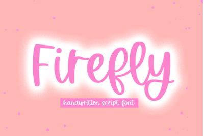 Firefly - Handwritten Script Font